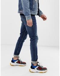 Мужские темно-синие зауженные джинсы от Calvin Klein