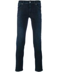 Мужские темно-синие зауженные джинсы от Dondup