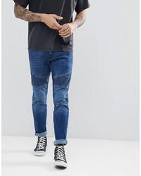 Мужские темно-синие зауженные джинсы от Esprit