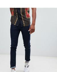 Мужские темно-синие зауженные джинсы от Le Breve