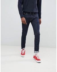 Мужские темно-синие зауженные джинсы от Levi's