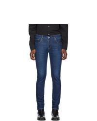 Мужские темно-синие зауженные джинсы от Moussy Vintage