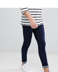 Мужские темно-синие зауженные джинсы от Noak