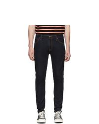 Мужские темно-синие зауженные джинсы от Nudie Jeans