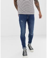 Мужские темно-синие зауженные джинсы от ONLY & SONS