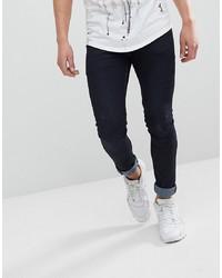 Мужские темно-синие зауженные джинсы от Religion