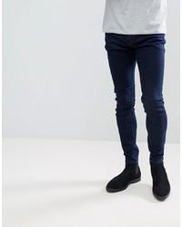 Мужские темно-синие зауженные джинсы от Rollas