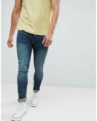 Мужские темно-синие зауженные джинсы от Saints Row