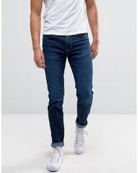 Мужские темно-синие зауженные джинсы от Selected