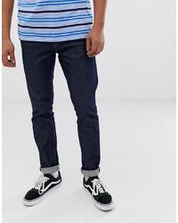 Мужские темно-синие зауженные джинсы от Weekday