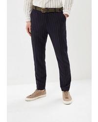 Мужские темно-синие классические брюки в вертикальную полоску от Crocodile Coup