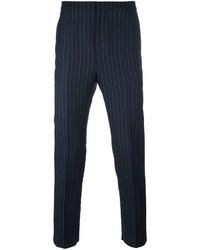 Мужские темно-синие классические брюки в вертикальную полоску от Golden Goose Deluxe Brand