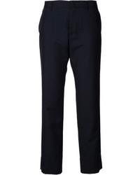 Женские темно-синие классические брюки в вертикальную полоску от Jil Sander