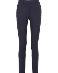 Женские темно-синие классические брюки в вертикальную полоску от Victoria Beckham