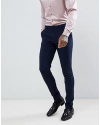 Мужские темно-синие классические брюки от ASOS DESIGN