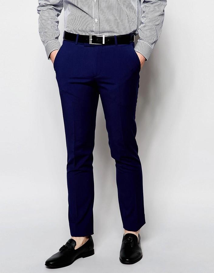 ... Мужские темно-синие классические брюки от Ben Sherman ... b1b20daef00aa