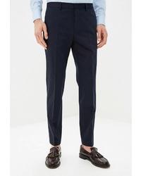 Мужские темно-синие классические брюки от BOSS HUGO BOSS