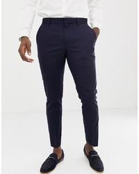 Мужские темно-синие классические брюки от Burton Menswear