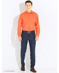 Мужские темно-синие классические брюки от Donatto
