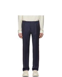 Мужские темно-синие классические брюки от Gucci