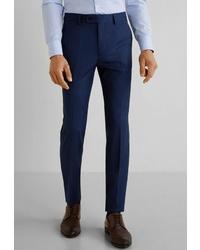 Мужские темно-синие классические брюки от Mango Man