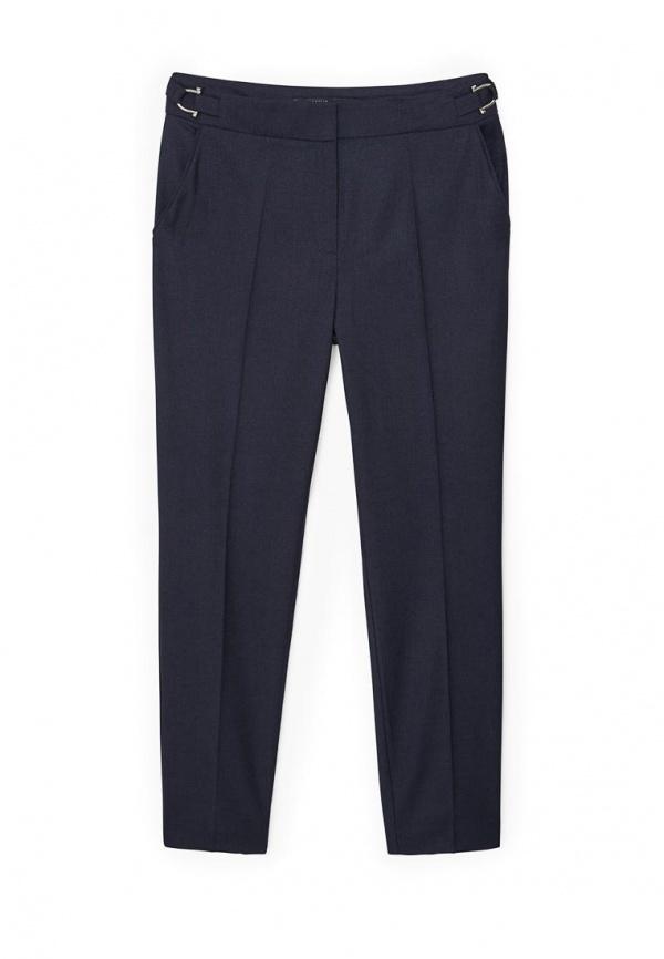 Женские темно-синие классические брюки от Mango