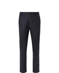 Мужские темно-синие классические брюки от Mr P.