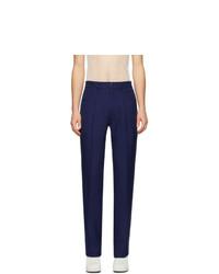 Мужские темно-синие классические брюки от Random Identities
