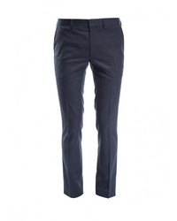 Мужские темно-синие классические брюки от Topman