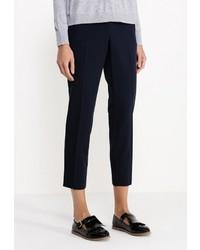 Женские темно-синие классические брюки от Topshop