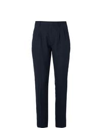 Мужские темно-синие классические брюки от Zanella