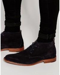 Темно-синие кожаные ботинки дезерты от Aldo