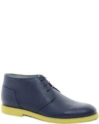 Темно-синие кожаные ботинки дезерты от Chukka