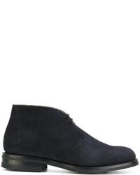 Темно-синие кожаные ботинки дезерты от Church's