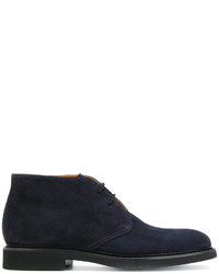Темно-синие кожаные ботинки дезерты от Doucal's