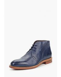 Темно-синие кожаные ботинки дезерты от Kazar