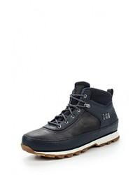 Мужские темно-синие кожаные ботинки от Helly Hansen