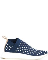 Женские темно-синие кожаные кеды от adidas