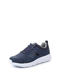 Мужские темно-синие кожаные кроссовки от Anta