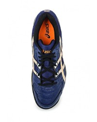 Мужские темно-синие кожаные кроссовки от Asics