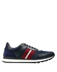 Мужские темно-синие кожаные кроссовки от Bally