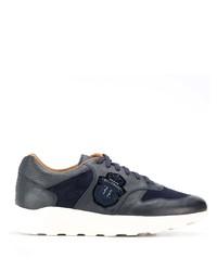 Мужские темно-синие кожаные кроссовки от Billionaire
