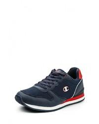 Мужские темно-синие кожаные кроссовки от Champion