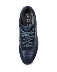 Мужские темно-синие кожаные кроссовки от Conhpol Dynamic
