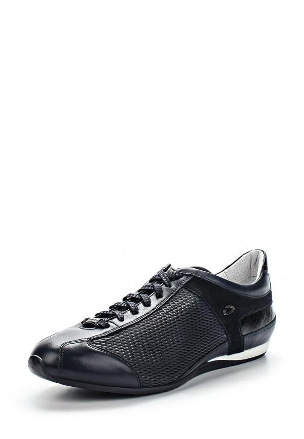 Мужские темно-синие кожаные кроссовки от GUARDIANI SPORT