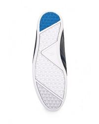 Мужские темно-синие кожаные кроссовки от Lacoste