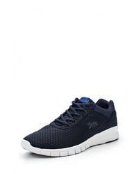 Мужские темно-синие кожаные кроссовки от Lonsdale