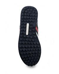 Мужские темно-синие кожаные кроссовки от Mapleaf