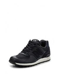 Мужские темно-синие кожаные кроссовки от New Balance
