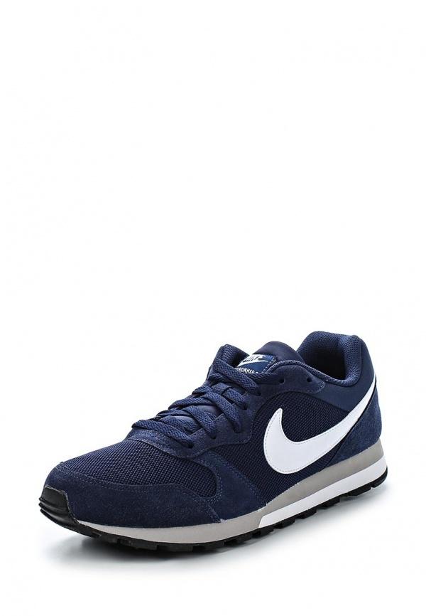 Мужские темно-синие кожаные кроссовки от Nike